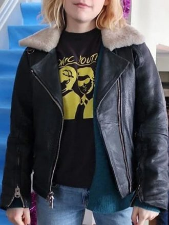 Angie Let It Snow Kiernan Shipka Leather Jacket