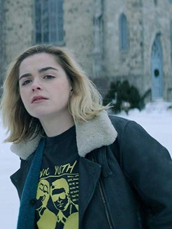 Kiernan Shipka Let It Snow Leather Jacket