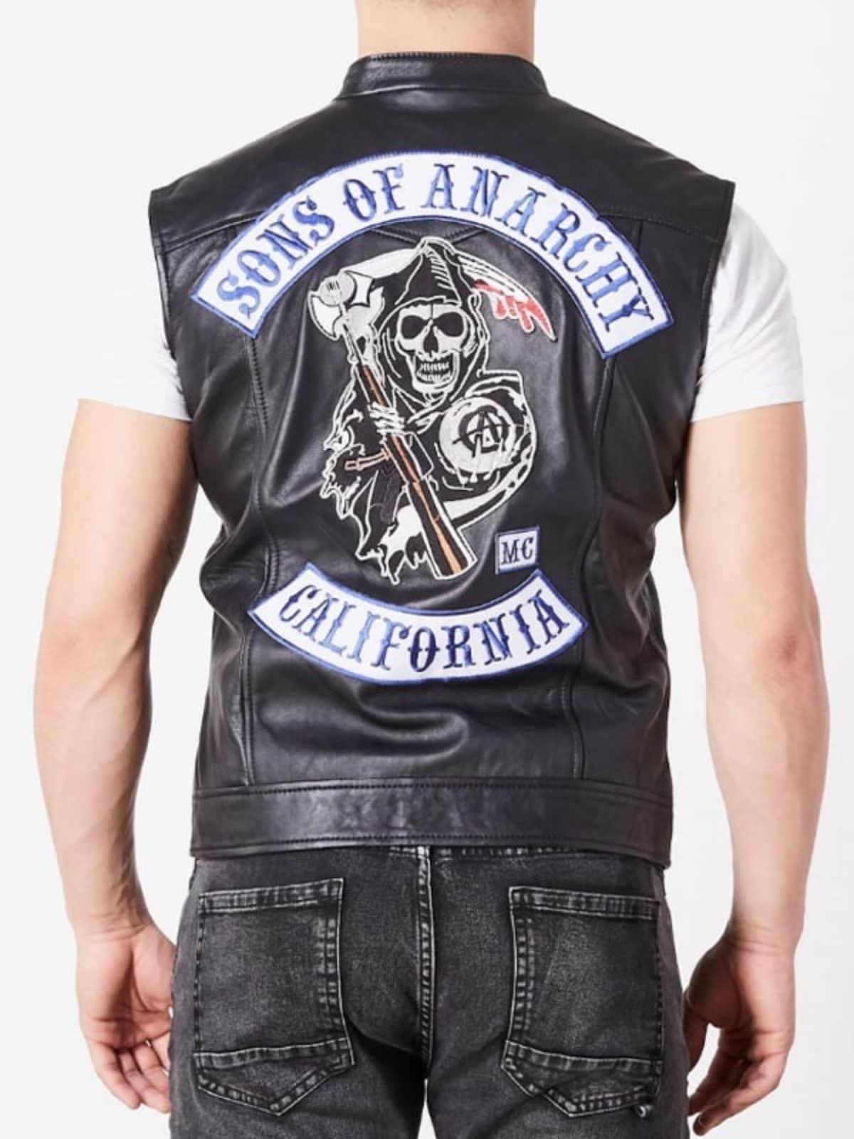 Jax Teller Charlie Hunnam Soa Sons Of Anarchy Leather Vest