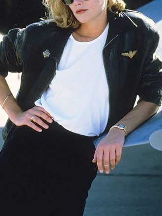 Kelly McGillis Top Gun Leather Jacket