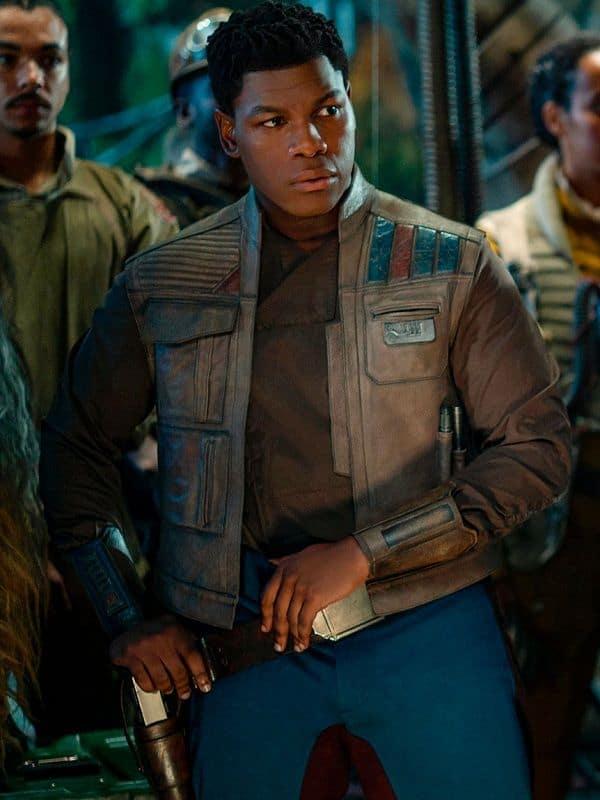 Star Wars Rise Of The Skywalker Finn Leather Vest Brown