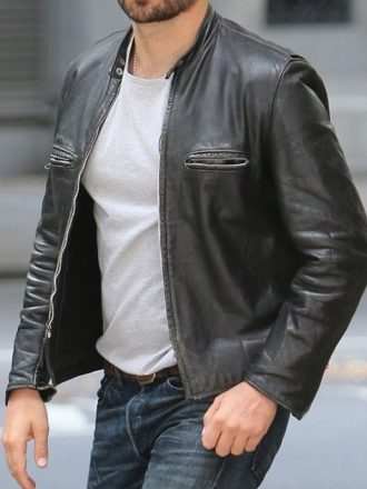 Adams John Burnt Bradley Cooper Leather Jacket Black 01