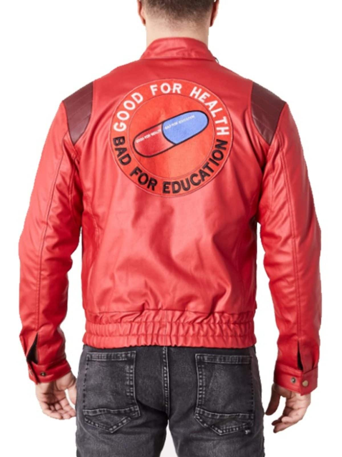 Akira Kaneda Jacket Pill Patch Logo Good For Health Bad For Education 02