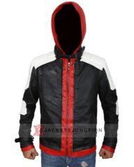 Arkham Knight Jason Todd Hooded Leather Jacket