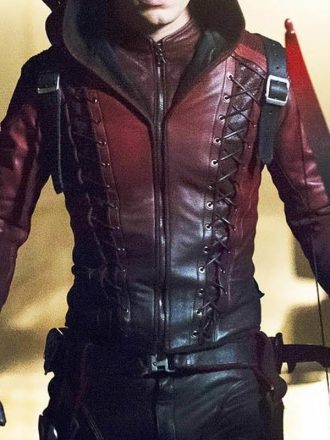 Arrow Season 3 Roy Harper Colton Haynes Leather Jacket 01