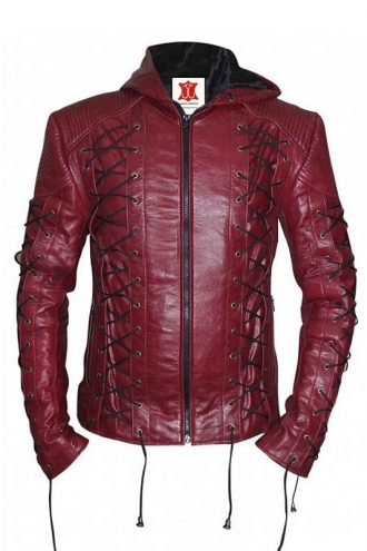 Arrow Season 3 Roy Harper Colton Haynes Leather Jacket 02