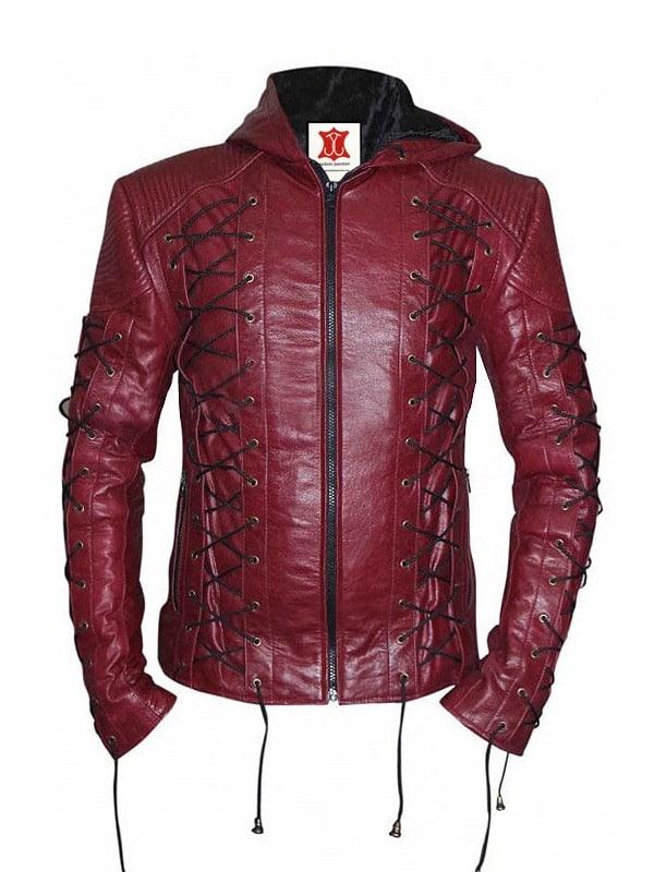 Arrow Season 3 Roy Harper Colton Haynes Leather Jacket 02