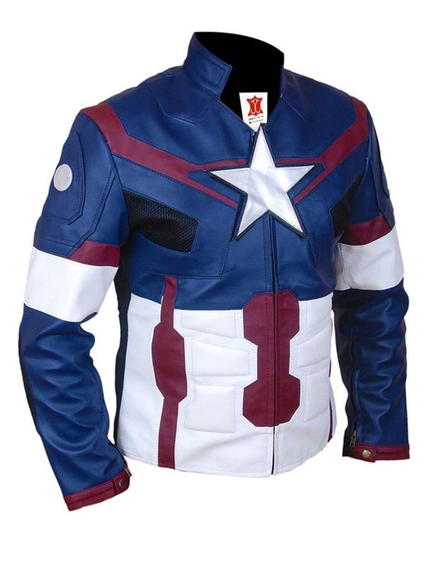 Avengers Age of Ultron Captain America Steve Rogers Leather Jacket 03