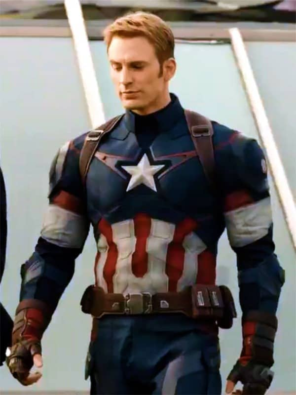 Avengers Age of Ultron Captain America Steve Rogers Leather Jacket