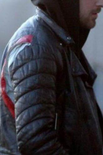 Blue Valentine Ryan Gosling Leather Biker Jacket Black 01