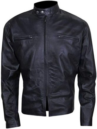 Burnt Adams John Bradley Cooper Leather Jacket Black