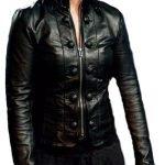 Chloe Sullivan Smallville Allison Mack Leather Jacket Black 01