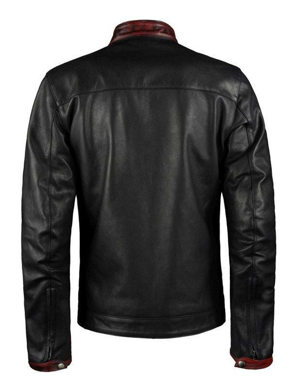 Dark Knight Christian Bale Leather Biker Jacket