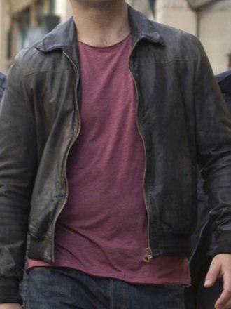 Die Hard 5 Jai Courtney Leather Bomber Jacket