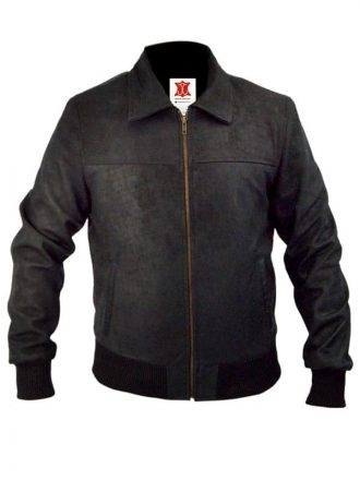 Die Hard 5 Jai Courtney Leather Bomber Jacket Black 03