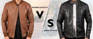 Difference Between Bomber Jackets and Biker Jackets