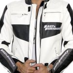 Fast and Furious 7 Vin Diesel Leather Biker Jacket White