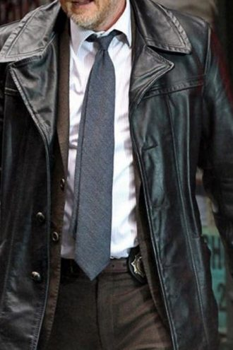 Gotham TV Series Donal Logue Leather Coat Jacket 01
