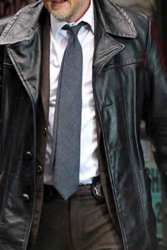 Gotham TV Series Donal Logue Leather Coat Jacket 01