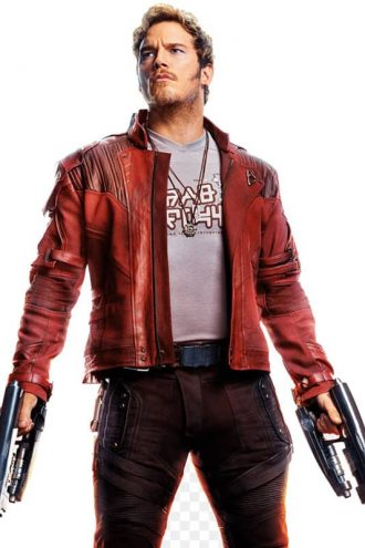 Guardians Of The Galaxy 2 Chris Pratt Leather Jacket Red Maroon 01