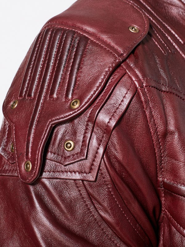 Guardians Of The Galaxy 2 Chris Pratt Leather Jacket Red Maroon 2