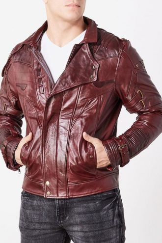 Guardians Of The Galaxy 2 Chris Pratt Leather Jacket Red Maroon