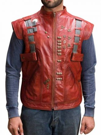 Guardians Of The Galaxy Chris Pratt (Peter Quill) Leather Vest