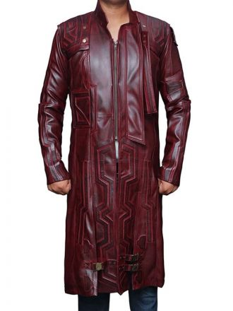 Guardians Of The Galaxy Star Lord Chris Pratt Leather Trench Coat