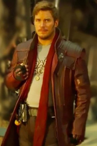 Guardians of Galaxy 2 Star Lord Chris Pratt Leather Coat