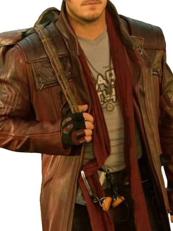 Guardians of Galaxy 2 Star Lord Chris Pratt Leather Coat 01