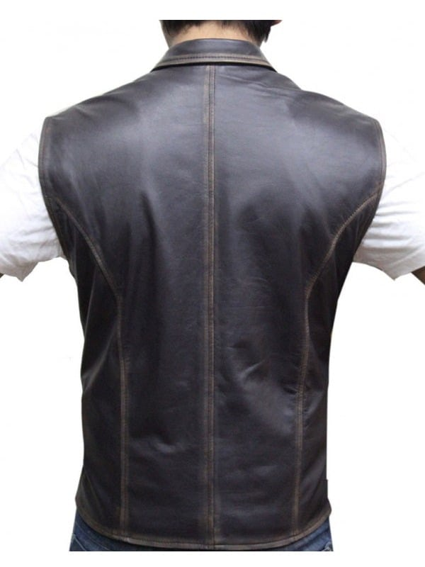 Hell on Wheels Anson Mount Leather Vest