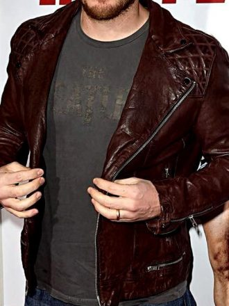 Hot Tub Time Machine 2 Premiere Chris Pratt Leather Jacket 01