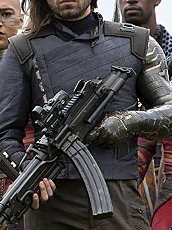 Infinity War Bucky Barnes Winter Soldier Leather Jacket 01