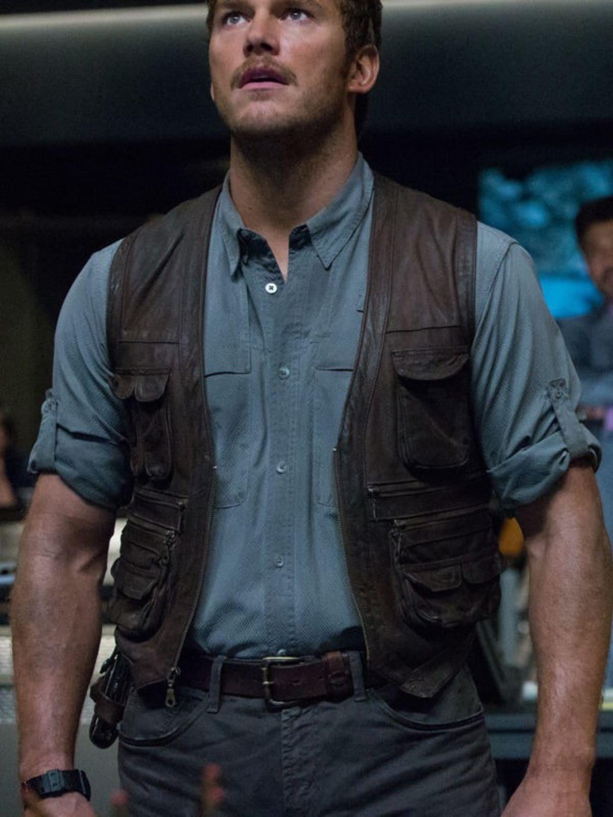 Jurassic World Chris Pratt Owen Grady Leather Vest