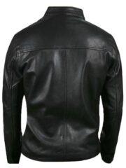 Le Mans Steve McQueen Leather Jacket Black Back