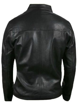 Le Mans Steve McQueen Leather Jacket Black Back