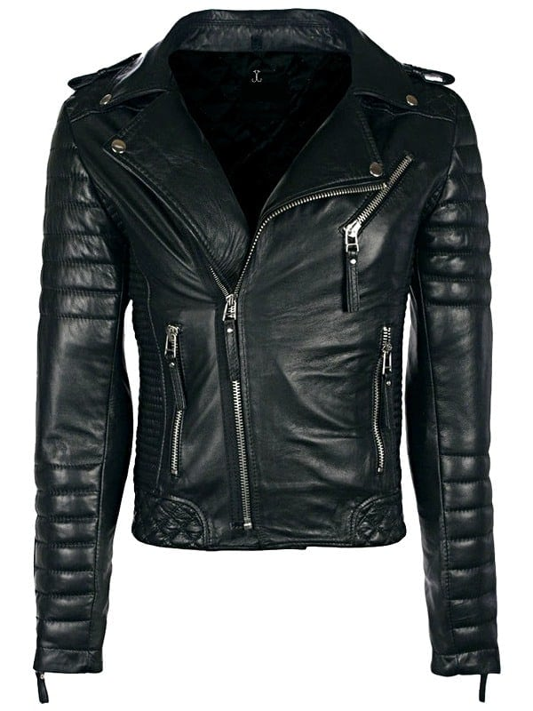 Diamond Quilted Leather Biker