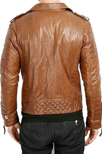 Mens-Boda-Quilted-Leather-Biker-Jacket-Tan-BACK