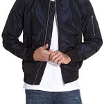 Mens Cordura Motorcycle Jacket Black Front