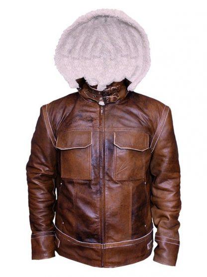 Mens WW2 B3 Shearling Fur Real Leather Aviator Jacket Brown3