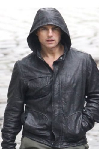 Mission Impossible 4 Ghost Protocol Tom Cruise Hoodie Leather Jacket