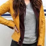 Ninja Turtles Reboot Megan Fox Leather Jacket Yellow 01
