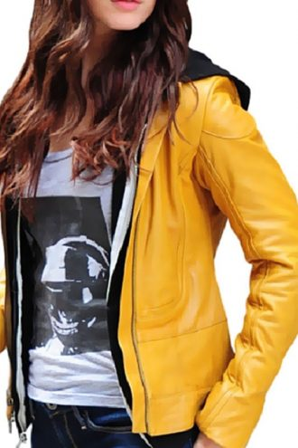 Ninja Turtles Reboot Megan Fox Leather Jacket Yellow 03