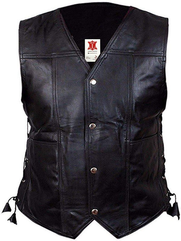 III-Fashions The Walking Dead Norman Reedus Daryl Dixon Biker Black Leather Wings Vest