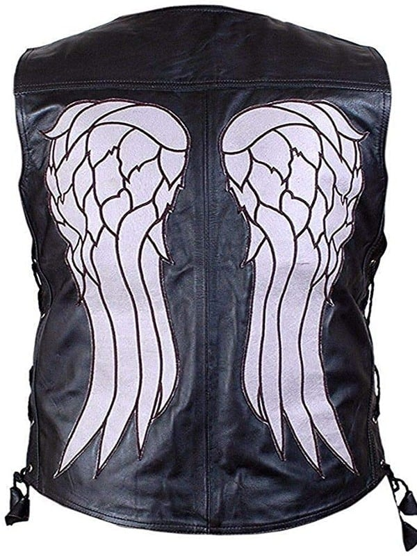 Norman Reedus Walking Dead Leather Vest Black
