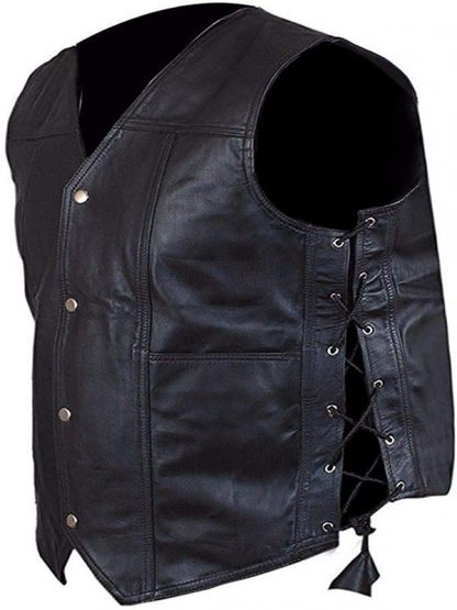 Norman Reedus Walking Dead Leather Vest Black