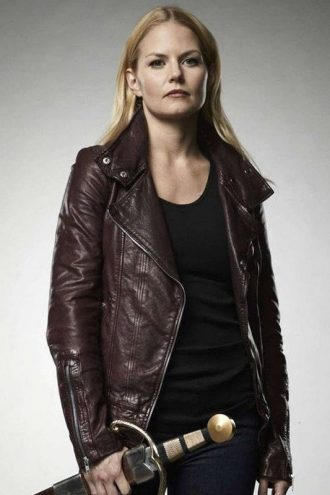 Once Upon A Time Season 4 Emma Swan Leather Jacket Red