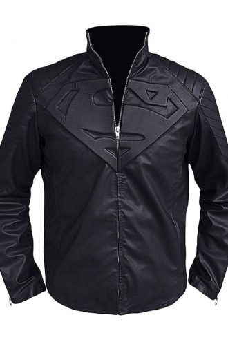Superman Man of Steel Clark Kent Leather Jacket Black