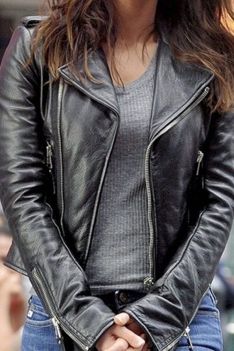 Teenage Mutant Ninja Turtles 2 Megan Fox Leather Jacket Black 01