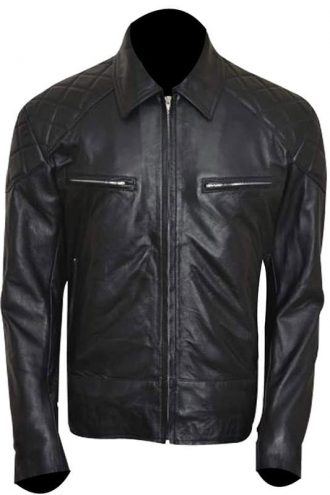 Terminator 5 Arnold Schwarzenegger Leather Jacket Black 02